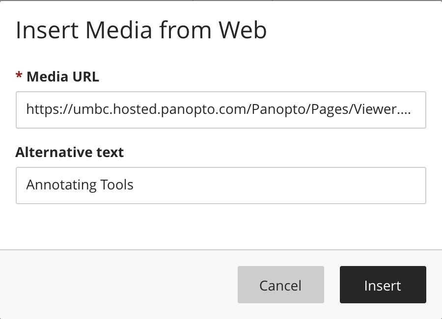 Add the share link to the URL field and a description