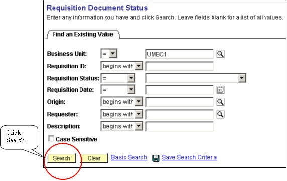 how do i check the status of a requisition peoplesoft umbc wiki