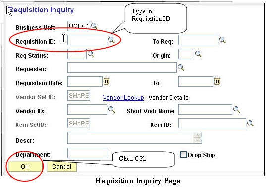How Do I Find Out The Po Number For My Requisition  Peoplesoft