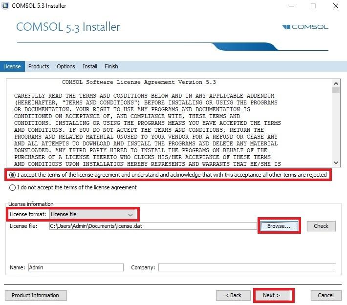 Comsol Installation - Find Help (FAQs) - UMBC
