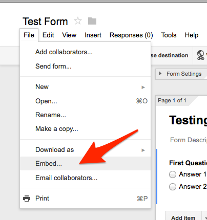 Advanced Topic - How do I embed a Google Form on my site in sites ...