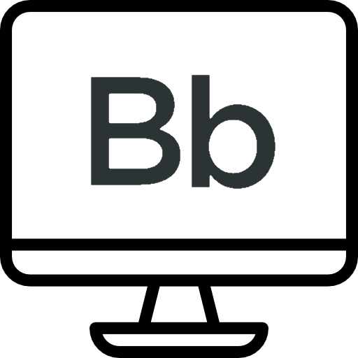 Image of monitor with Bb logo