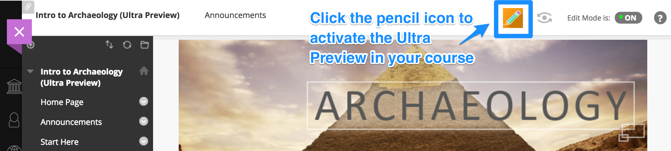 Click pencil icon to activate Ultra Preview