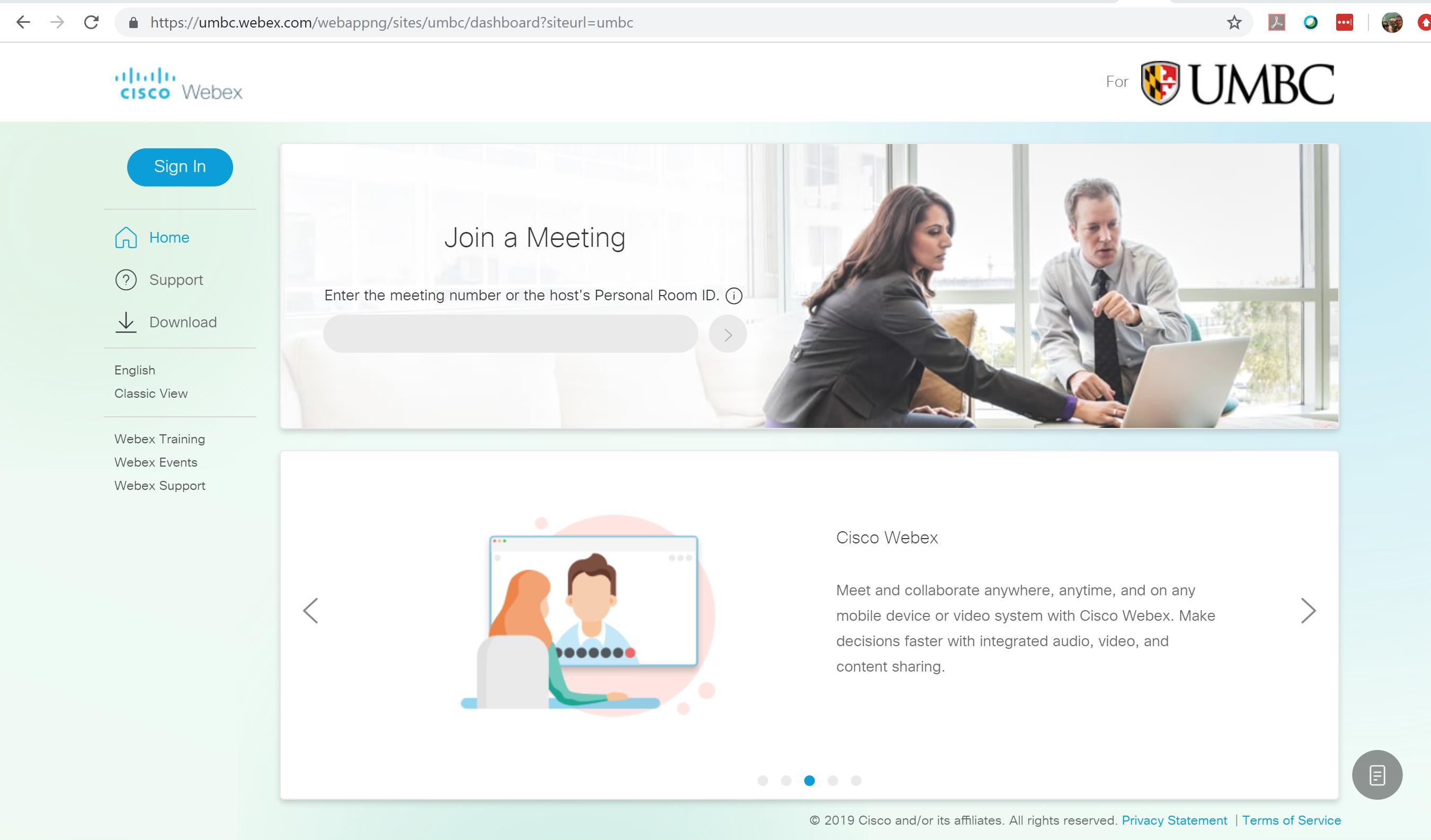 Convert my Existing Webex Account - Find Help (FAQs) - UMBC