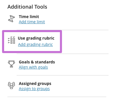Add a rubric to the assignment