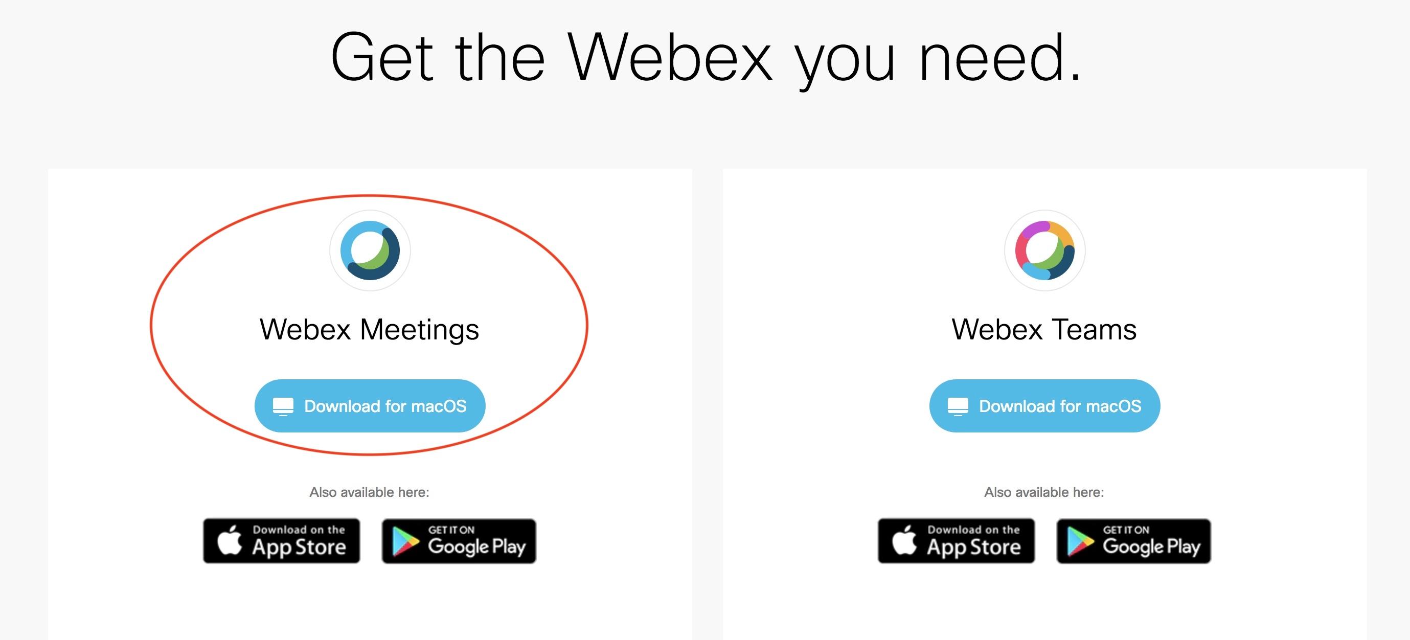 WEBEX SCARICARE